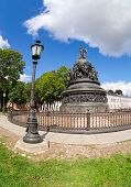 Novgorod - August 10: Monument To The 1000Th Anniversary Of Russia On August 10, 2013 In Velikiy Nov
