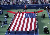 The opening ceremony before US Open 2013 women final match at Billie Jean King National TennisCenter