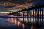 Oceanside Sunset - Oceanside is 40 miles North of San Diego, California