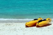 Yellow Sea Kayaks On The Beach
