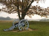 picture of revolutionary war  - A historic revolutionary war cannon on display at Valley Forge National Historic Park - JPG