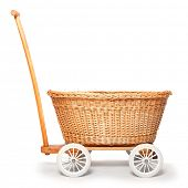 Rustic baby pram from czech countryside.