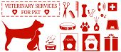 set isolated veterinary services objects