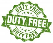 Duty Free Green Grunge Stamp
