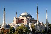 Hagia Sophia Mosque Landmark In Instanbul Turkey poster