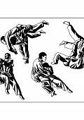 foto of judo  - Vector illustration - JPG