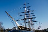 image of sark  - View of the recently restored Cutty Sark - JPG