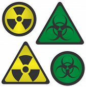 picture of biological hazard  - Signs Radiation and biological hazard vector illustration - JPG