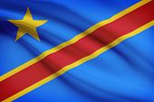 Series Of Ruffled Flags. Democratic Republic Of The Congo.