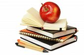 Notebooks, Pens And Apple