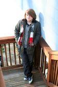 Depressed Teenage Boy Outdoors