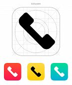 Telephone receiver icon. Answer the call.