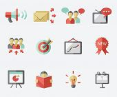 stock photo of spam  - Marketing icon set - JPG
