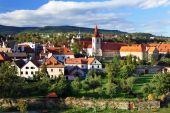 Beautiful Township At Cesky Krumlov , Czech Republic