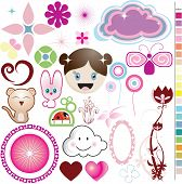 Girly stuff icons and graphics