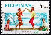 Postage Stamp Philippines 1963 Tinikling, Bamboo Dance