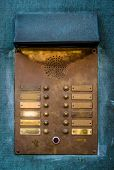 Vintage Brass Intercom Buzzer