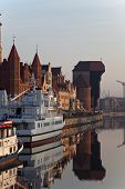 Gdansk Of Riverside At Dawn