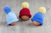 knitted egg warmers