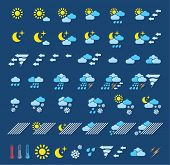 Icons which represent weather conditions