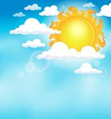 Sun on sky theme image 1 - eps10 vector illustration.