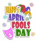 An illustration of Happy April fools day concept
