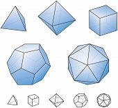 image of tetrahedron  - Platonic solids  - JPG