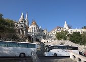 View Of Fisherman's Bastion, Buda Castle Complex In Budapest, Hungary.