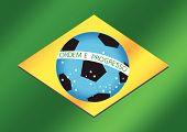 Map  Soccer ball  Brasil 2014