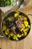 Beef With Spiced Potatoes