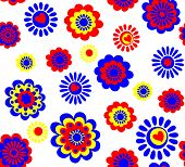 Funny seamless floral wallpaper. Raster copy