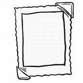 empty photo frame cartoon doodle