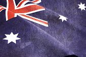 Grunge Distressed Aged Old Australian Flag For Anzac Day, 70Th Anniversary Wwii, Or 100Th Anniversar