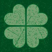 grunge four leaf clover