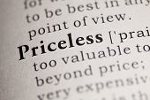 stock photo of priceless  - Fake Dictionary Dictionary definition of the word Priceless.