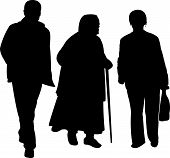 family walking silhouette vector