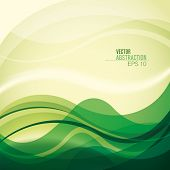 Abstract background with curved shapes. Vector illustration.