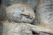 Laying Buddha In Polonnaruwa Temple