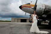 Bride & airplane