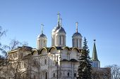 The Patriarch Palace and the Twelve Apostles Church. Moscow Kremlin, Russia