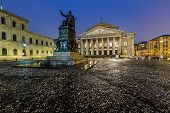The National Theatre Of Munich, Located At Max-joseph-platz Square In The Morning, Munich, Bavaria,