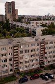 Typical socialist block of flats in Vilnius