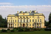 pic of manor  - Palace of the old Russian manor Neskuchnoye in Moscow is an architectural monument of the eighteenth century - JPG