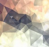 Abstract modern numbered background with polygons