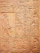 stock photo of hieroglyph  - Egyptian hieroglyphs on the wall - JPG