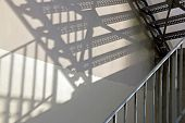 Metallic staircase, game of shade and light