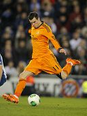 BARCELONA - JAN, 21: Gareth Bale of Real Madrid during the Spanish Kings Cup match between Espanyol and Real Madrid at the Estadi Cornella on January 21, 2014 in Barcelona, Spain