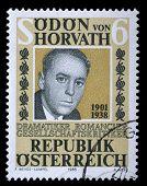 AUSTRIA - CIRCA 1988: stamp printed by Austria, shows Odon von Horwath, circa 1988