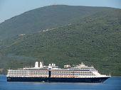 HERCEG NOVI, MONTENEGRO - JUNE, 07: Cruiser arriving in the inlet of Kotor, on June 07, 2012, in Herceg Novi, Montenegro