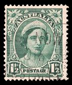 AUSTRALIA - CIRCA 1942: a stamp printed in the Australia shows Queen Elizabeth, Queen of England, ci